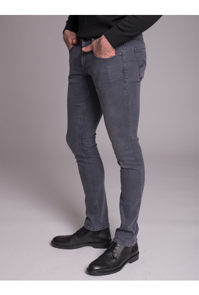 Dufy Gri Erkek Jeans - Regular Fit