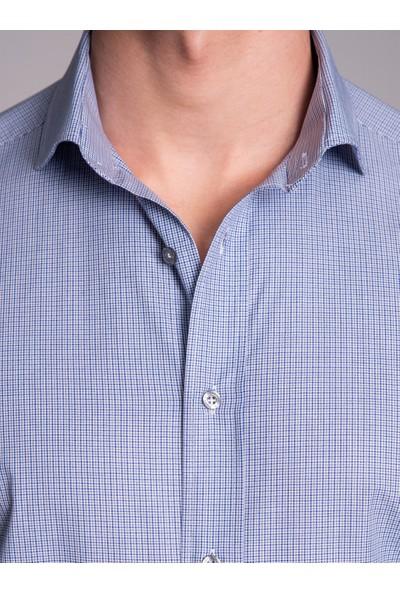 Dufy Lacivert Erkek Gömlek - Regular Fit