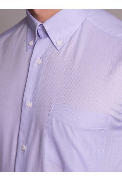 Dufy Lila Erkek Gömlek - Regular Fit
