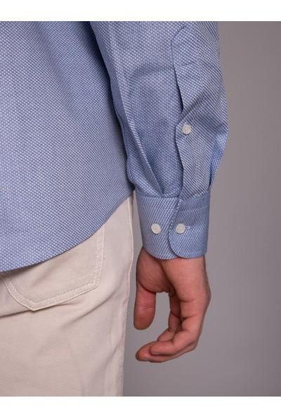 Dufy Mavi Erkek Gömlek