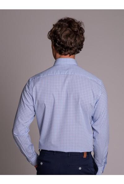 Dufy Mavi Erkek Gömlek - Regular Fit