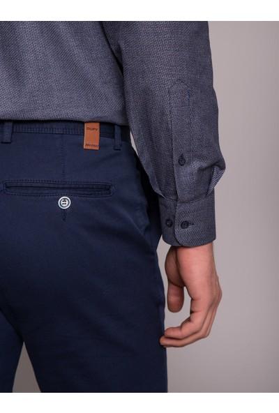 Dufy Siyah Desenli Sık Dokuma Erkek Gömlek - Regular Fit