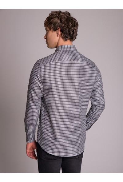 Dufy Siyah Kareli Erkek Gömlek - Regular Fit