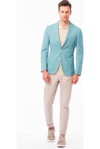 Dufy Düz Erkek Ceket - Slim Fit