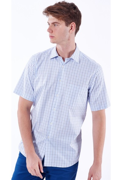 Dufy Ekose Erkek Gömlek - Regular Fit
