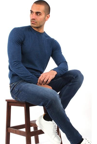 Dufy Erkek Diz Yıkamalı Jeans Regular Fıt