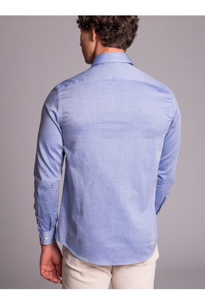 Dufy Erkek Klasik Düz Gömlek Slim Fit