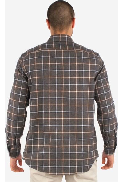 Dufy Erkek Kareli Gömlek Slim Fit