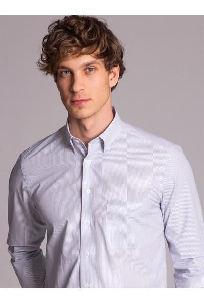 Dufy Erkek Çizgili Gömlek Regular Fıt