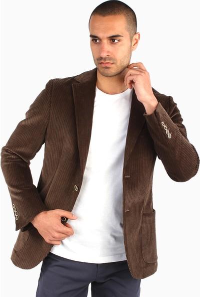Dufy Erkek Düz Ceket Slim Fit