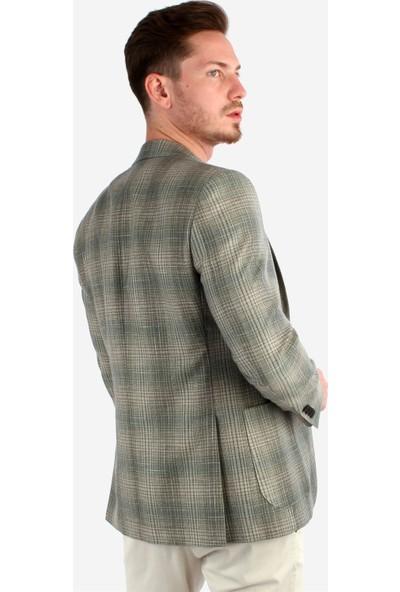 Dufy Erkek Ekose Ceket Slim Fit