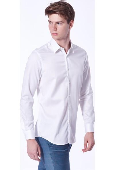 Dufy Düz Erkek Gömlek - Slim Fit