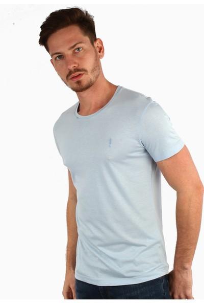 Dufy A.Mavi Düz Erkek T-Shirt