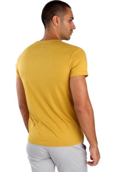 Dufy Hardal Düz Erkek T-Shirt