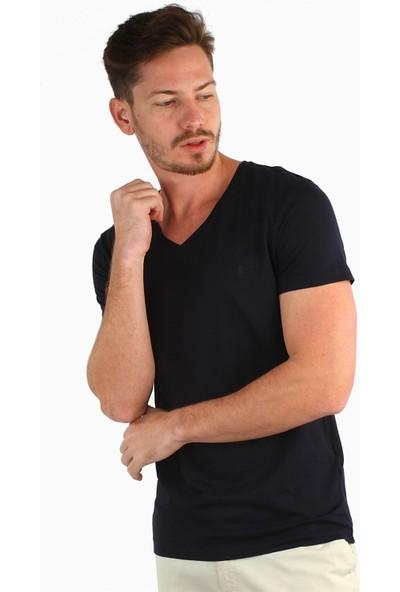Dufy Lacivert Erkek T-Shirt