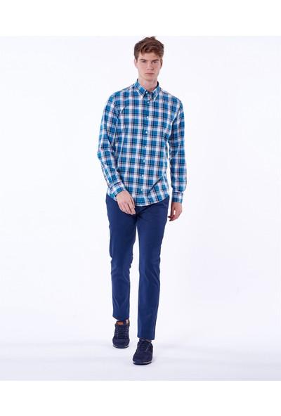 Dufy Ekose Erkek Gömlek - Slim Fit