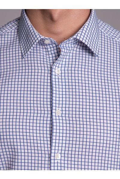 Dufy Erkek Ekose Desenli Gömlek Slim Fit
