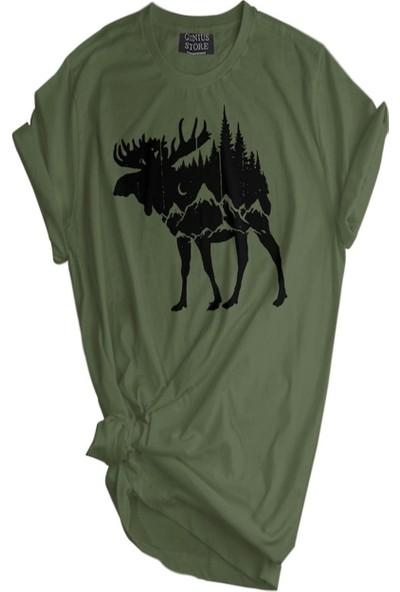 Genius Store Erkek Tişört Outdoor Baskılı T-Shirt
