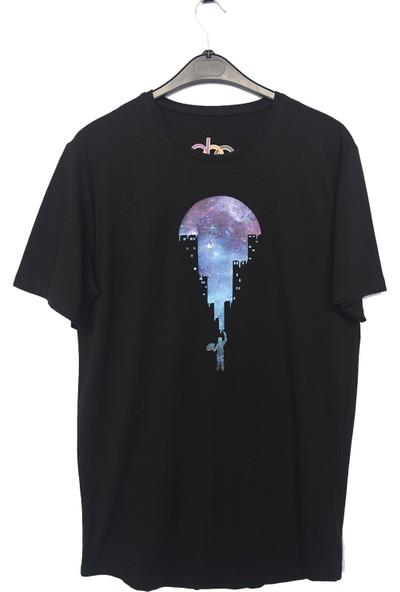DGA Ressam Baskılı Siyah T-Shirt
