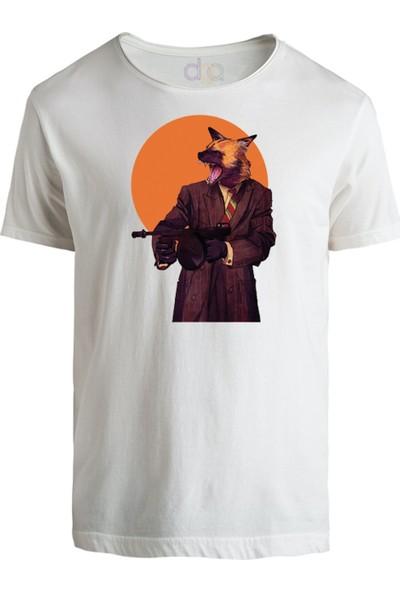 DGA Kurt Adam Baskılı Beyaz T-Shirt