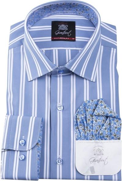 Giantport C836.G Erkek Gömlek Mavi