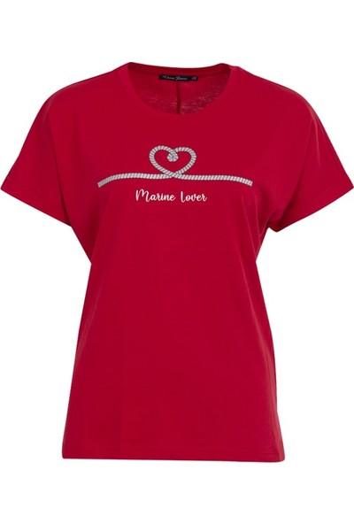 Vena 29383 Kadın T-Shirt Kırmızı