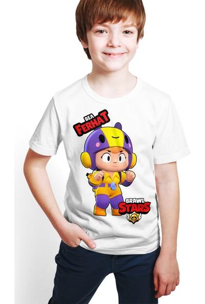 Brawl Stars - Bea - Dijital Baskılı Beyaz Kişiye Özel T-Shirt E-02