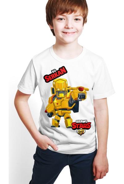 Brawl Stars - Bo - Dijital Baskılı Beyaz Kişiye Özel T-Shirt E-02