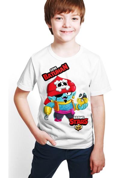 Brawl Stars - Gene - Dijital Baskılı Beyaz Kişiye Özel T-Shirt E-02