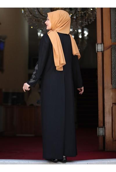 Amine Hüma Firuze Elbise Siyah