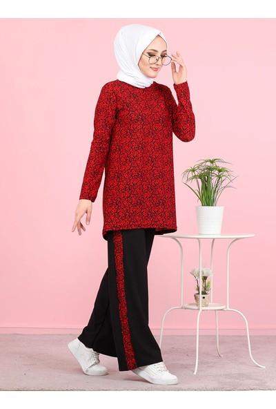 Tofisa Tunik Pantolon İkili Takım Kırmızı