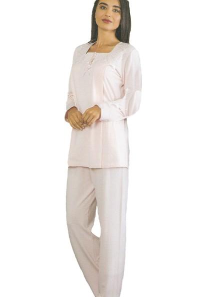 Emose 4030 Dantelli Lohusa Pijama Takım