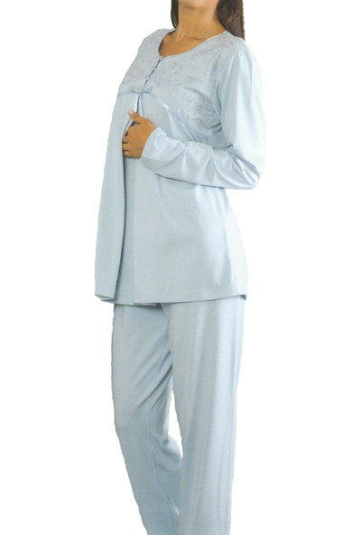 Emose 4034 Dantelli Lohusa Pijama Takım