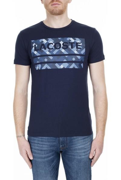 Lacoste Baskılı Bisiklet Yaka T-Shirt Erkek T-Shirt Th00220L