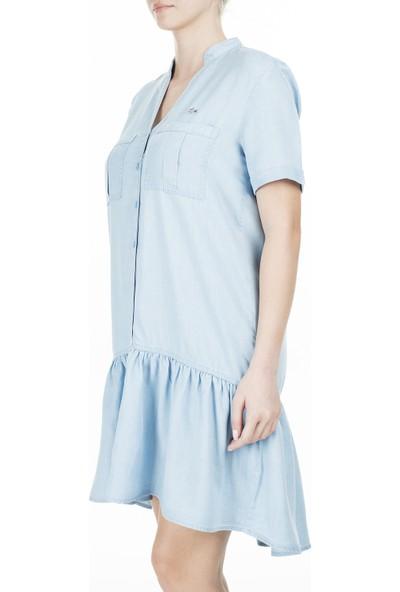 Lacoste V Yaka Kısa Kollu Elbise Kadın Elbise Ef0015T 15M