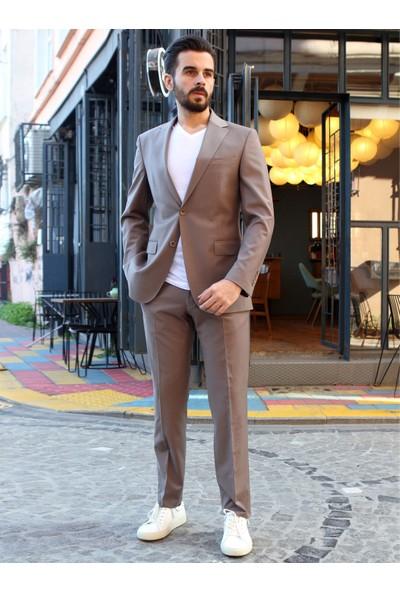 Dufy Vizon Düz Erkek Takım Elbise - Regular Fit