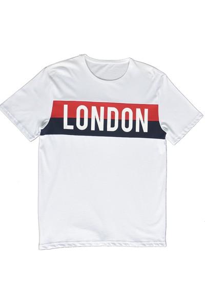DGA London Baskılı Beyaz T-Shirt