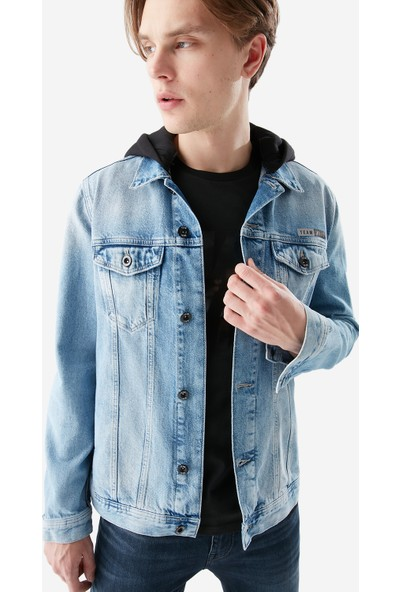 Mavi Erkek Team Drake Kapüşonlu Açık Jean Ceket