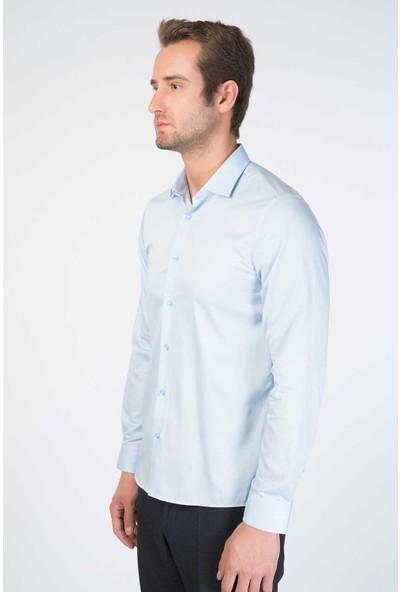 Centone Comfort Fit Uzun Kol Gömlek 19-0388 Gök Mavisi XL