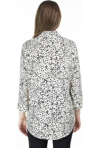 Ayhan Desenli Kadın Gömlek 04650369