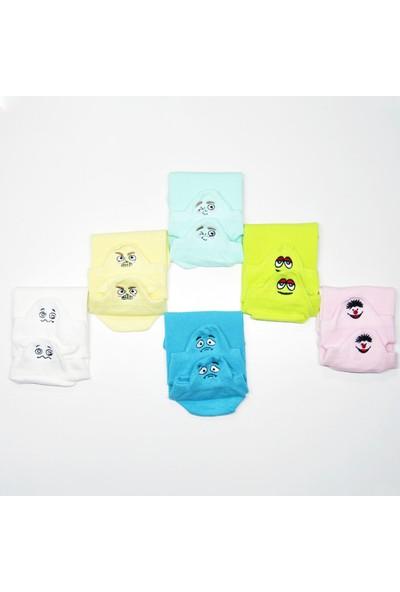 Peajack Çılgın Emoji Nakış İşlemeli 6'lı Kadın Patik Suba Çorap 36/42