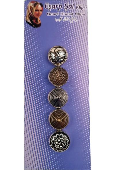 Cachmira 5'li Geometrik Model Eşarp & Şal Mıknatısı