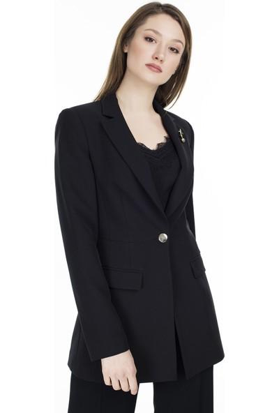 Ayhan Broşlu Klasik Kadın Ceket 04690436