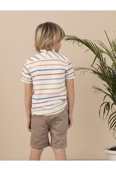 Ollie&Olla Renkli Çizgili Erkek Çocuk Gömlek