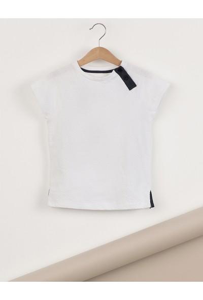 Ollie&Olla Pat Detaylı Beyaz Erkek T-Shirt