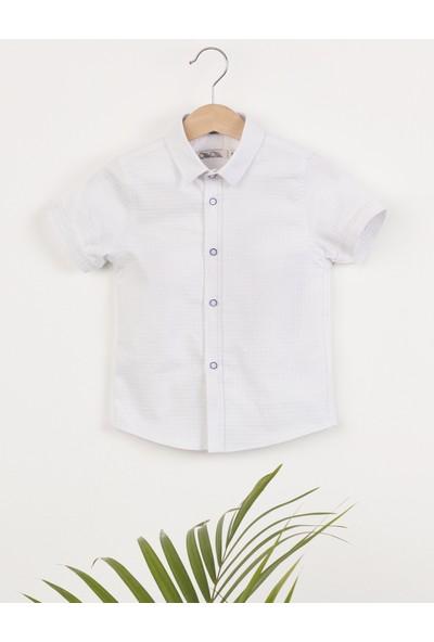 Ollie&Olla Düğmeli Beyaz Erkek Çocuk Gömlek