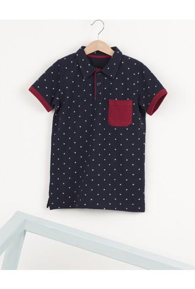Ollie&Olla Baskılı Puanlı Polo Yaka Erkek Çocuk T-Shirt