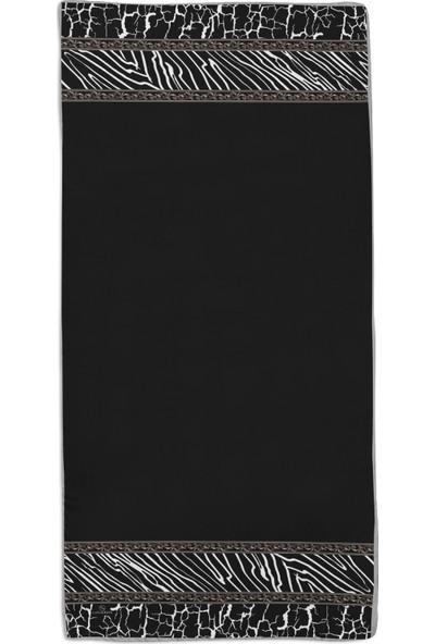 Lanjeron Barok Desenli Pamuk Şal Siyah 89910.99200