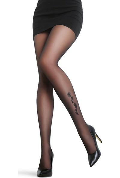 Penti Siyah Papatya Külotlu Çorap