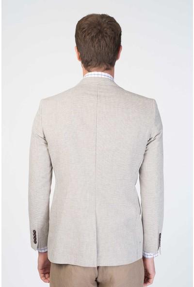 Centone Ceket Slim Fit 6 Drop 20-0011 Bej 46